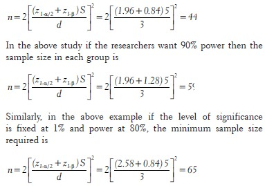 sample significance of study